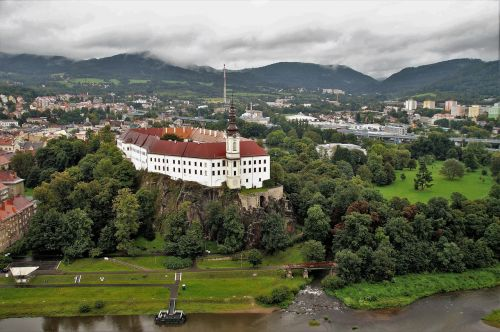 the decin castle czech republic a historical building