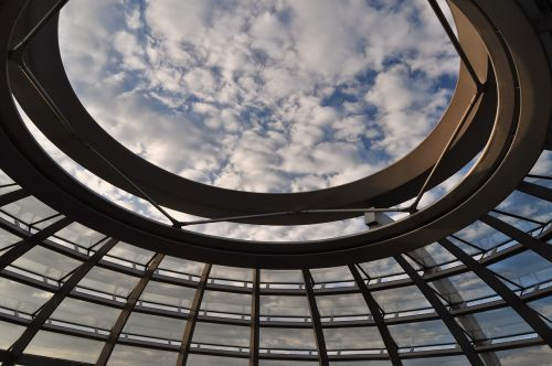 the dome the bundestag sky
