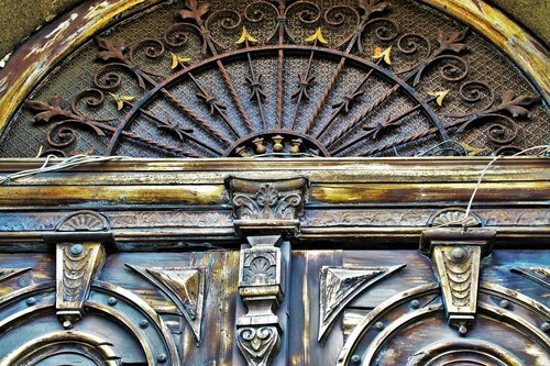 the door  old  antique