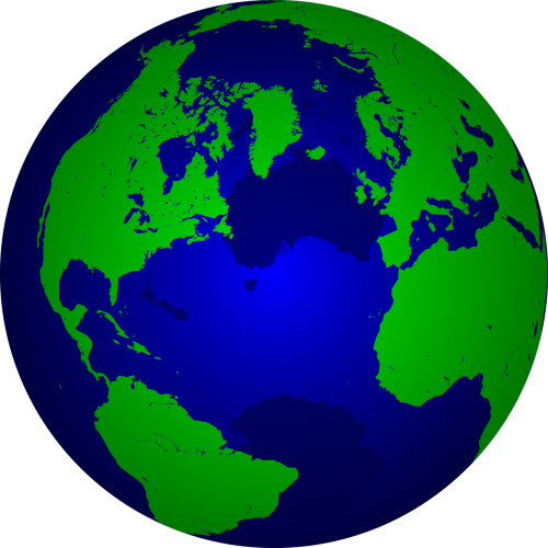 the earth globe map of the world