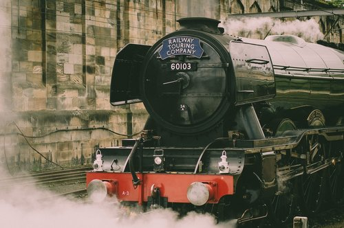 the flying scotsman  train  railway
