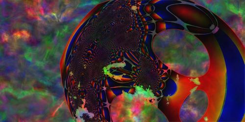 the fourth dimension fractal abstract