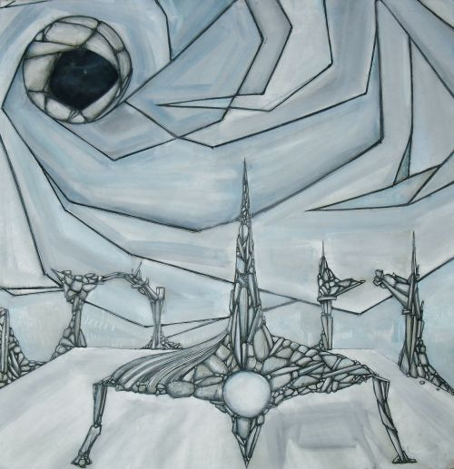 the framework science fiction painting
