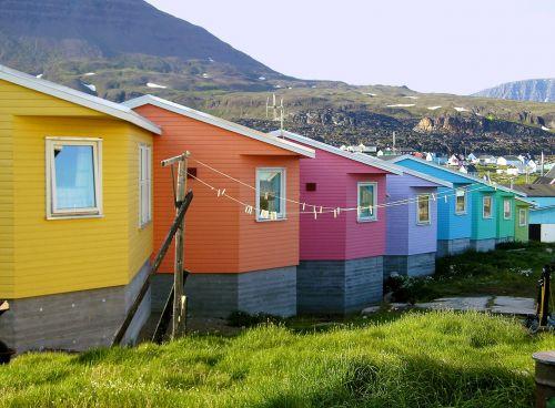 the freshly painted houses greenland jakobshavn