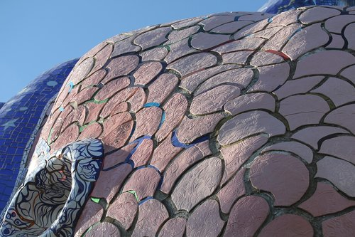 the garden of tarot  mosaic  colors