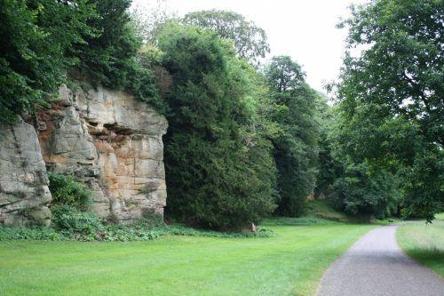 ripas, uk, Anglija, griuvėsiai, sodas, kelias, kelias, žalias, sodo kelias