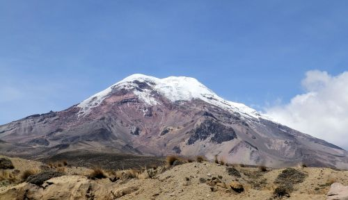 the glacier chimborazo andy