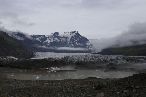 the glacier mountain landscape winter