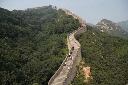 the great wall the majestic mountain