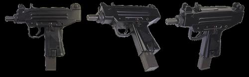 the gun  uzi-pistol  israeli machine