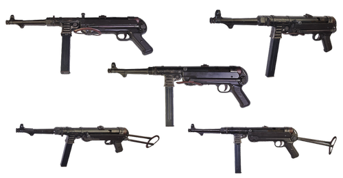 the gun  schmeisser mp40  german machine