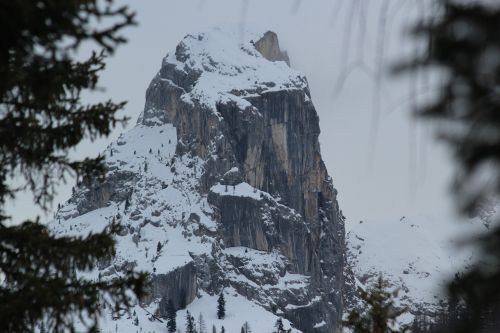 the haze mountain snow