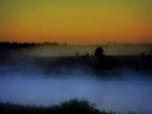 the haze water morning