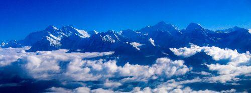 the himalayas panorama mountains