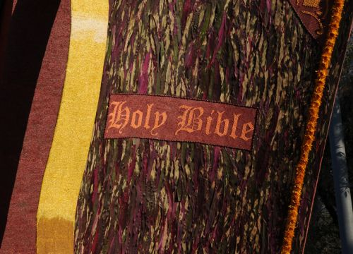 The Holy Bible In Flowers