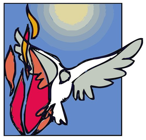 the holy spirit  dove  pentecost