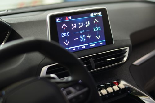 the interior of the  auto  cockpit