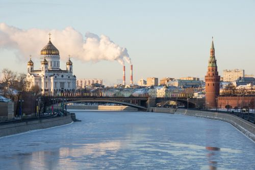 the kremlin winter moscow