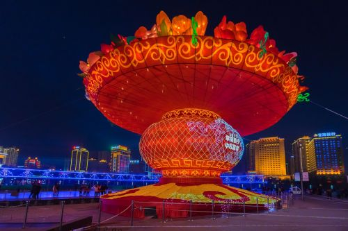 the lantern festival xining center square lantern