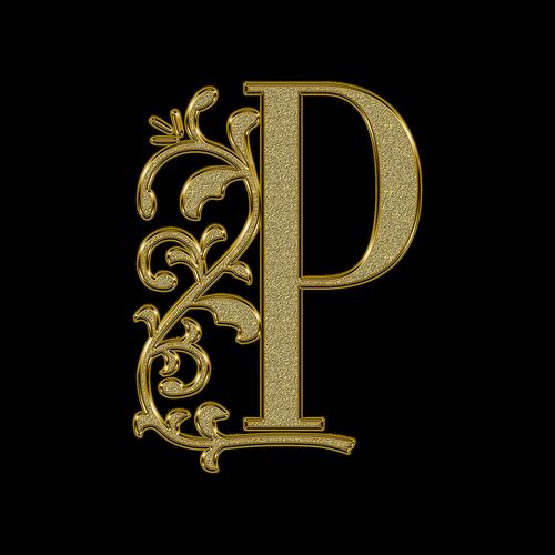 the letter p  p  letter