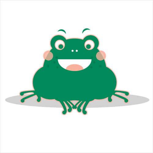 the little frog green smile