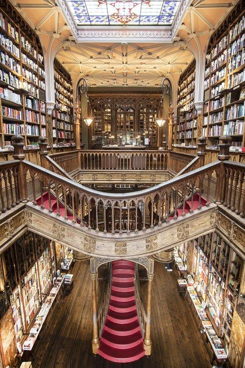 the livraria lello  porto  bookshop