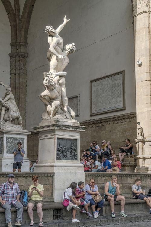 the loggia della signoria florence italy