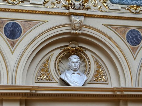 the lviv opera house the interior of the the bust of adam mickiewicz