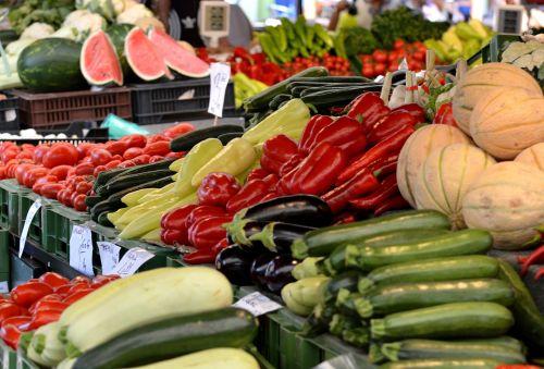the market place vegetables sale