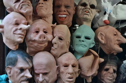 the mask the faces of halloween