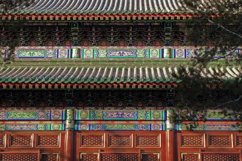 the old summer palace building ancient architecture