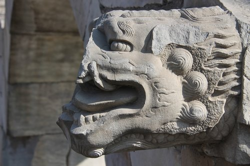 the old summer palace  temple  dragon wall