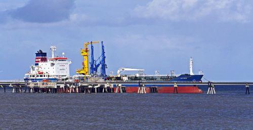 the outer port sea bridge oil port