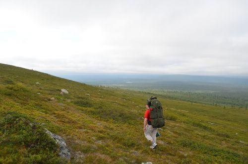 the path hetta-pallas hike