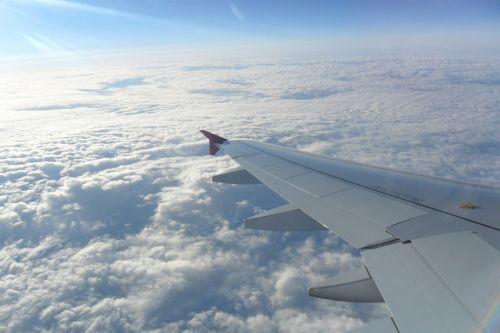 the plane flight skies