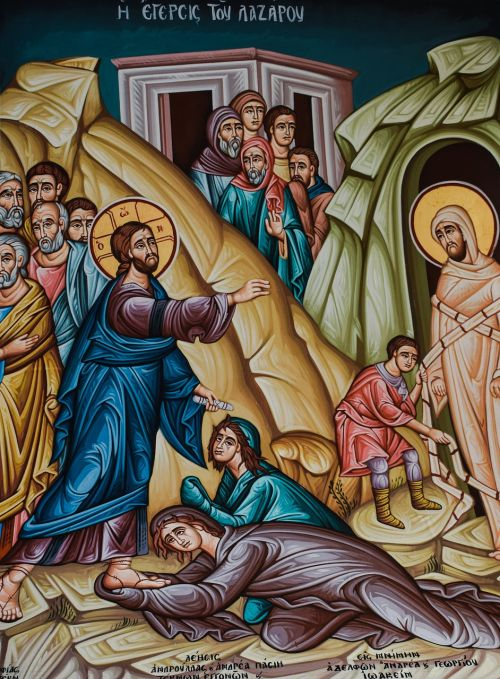 the raising of lazarus iconography painting