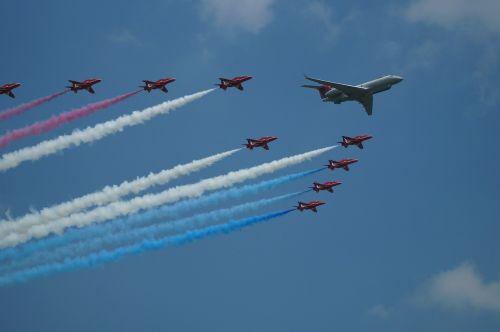 the red arrows royal air force raf waddington
