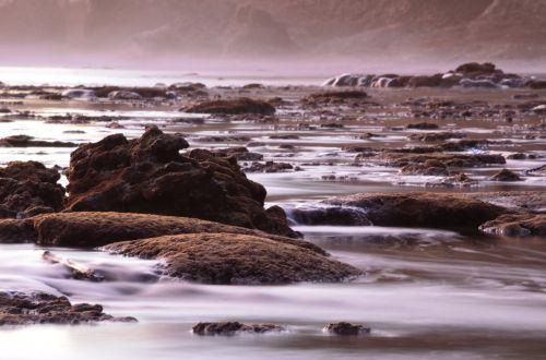 srautas, vanduo, papludimys, abstraktus, menas, uolos
