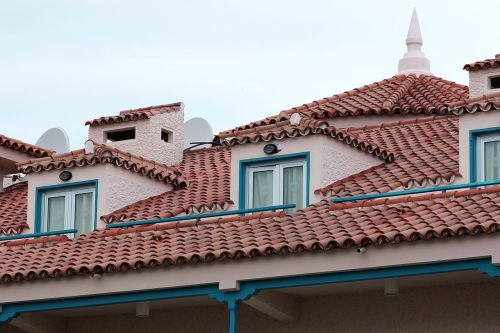 the roof of the tile window