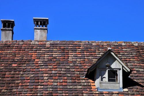 the roof of the  house  architecture