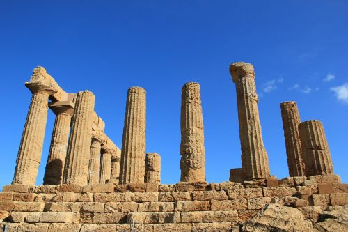 the ruins of the theatre sicily