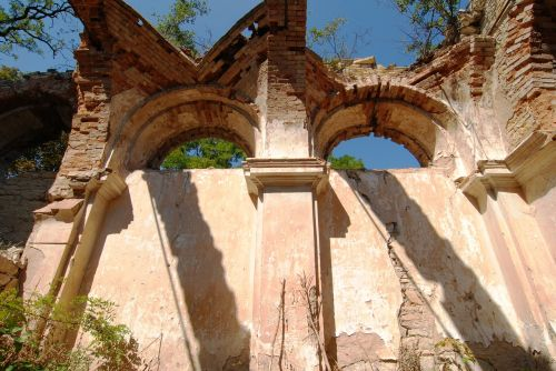 the ruins of the church shading