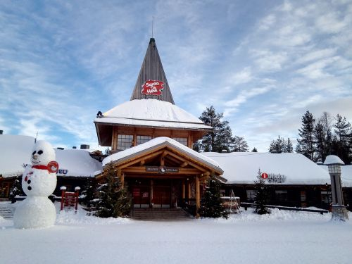 the scenery santa claus village nordic