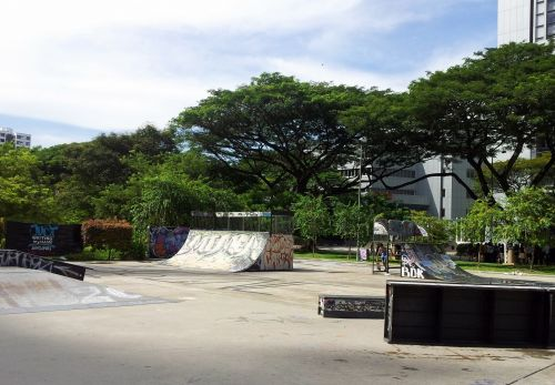 The Skate Park In Singapore City