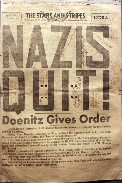 the stars and stripes extra newspaper nazis