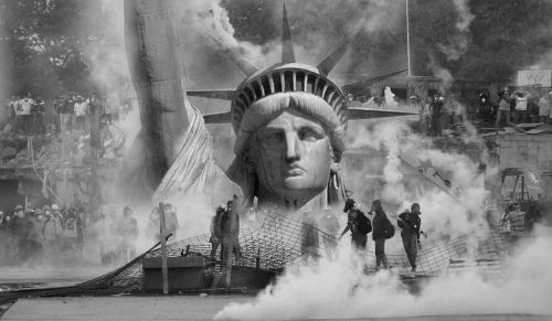 the statue of liberty violence anarchy