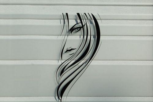 the sticker in the window hair hairdresser