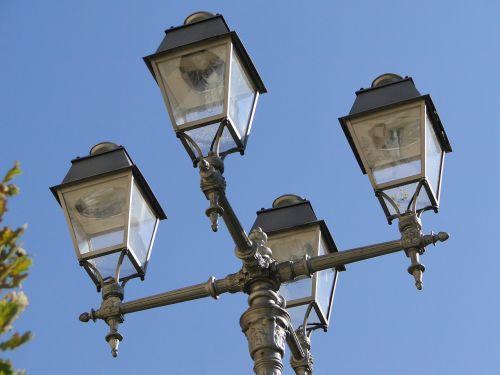 the street lamp post lamppost reflector