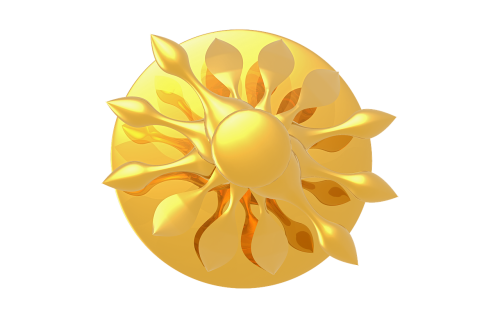 the sun glossy gold