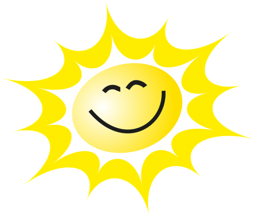 the sun a smile the rays